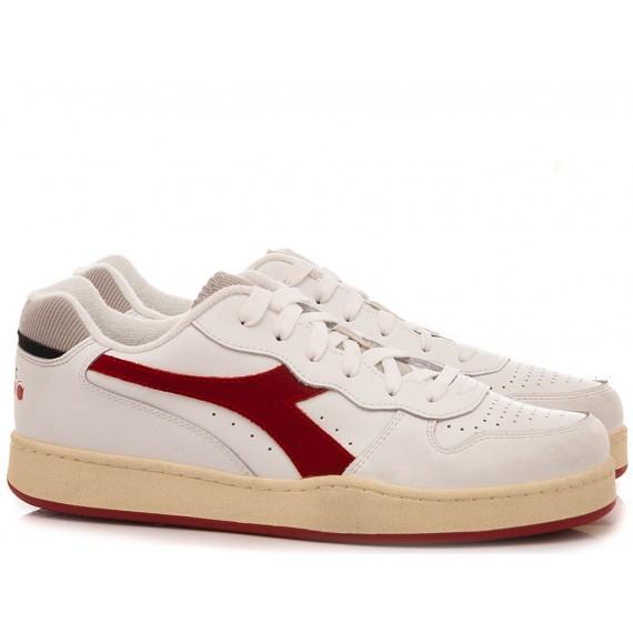 Diadora Sneakers Uomo MI Basket Low Used White-Red
