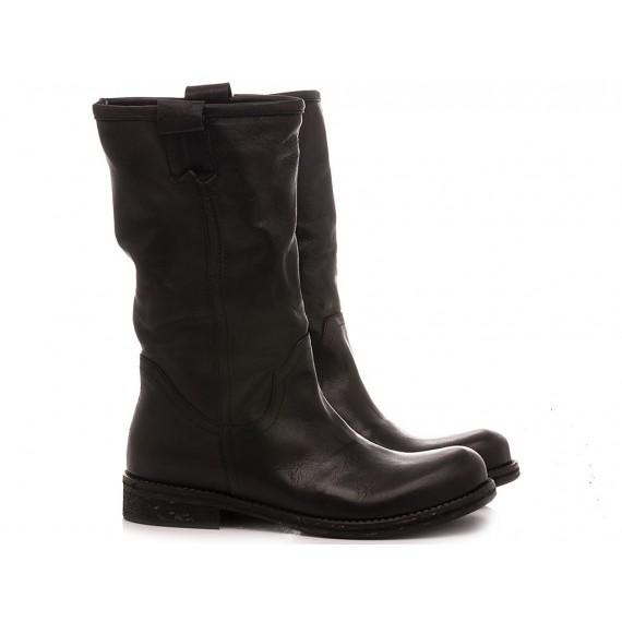 KBR Women's Ankle Boots 5555 Balck