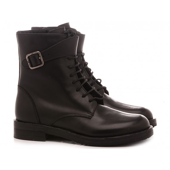 MAT:20 Women's Ankle Boots Leather Black 6301
