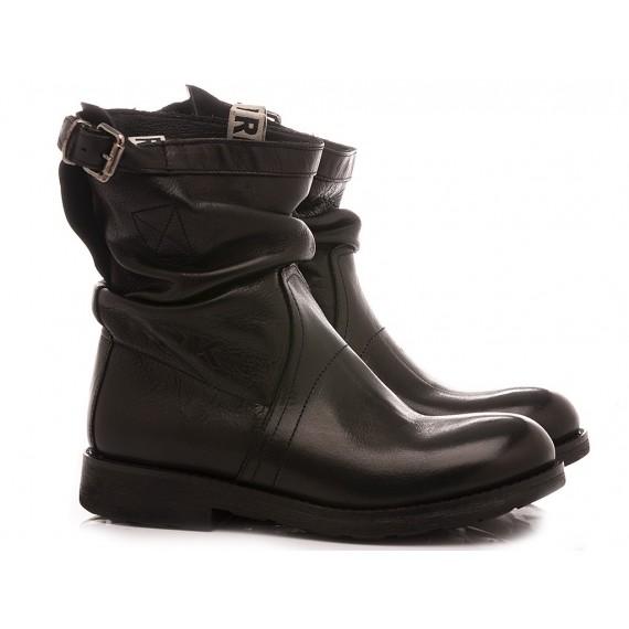 RepKo Women's Boots Black Leather BK4