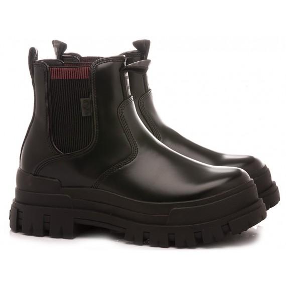 Buffalo London Women's Ankle Boots Aspha Chelsea Black