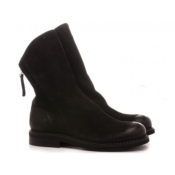 MAT:20 Women's Ankle Boots Suede Black 4353
