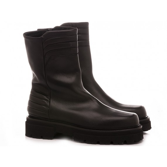 MAT:20 Women's Ankle Boots Leather Black 6403