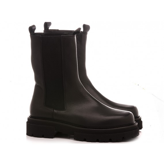 MAT:20 Women's Ankle Boots Leather Black 6402