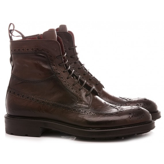 Corvari Men's Ankle Boots Ebony Leather 1025