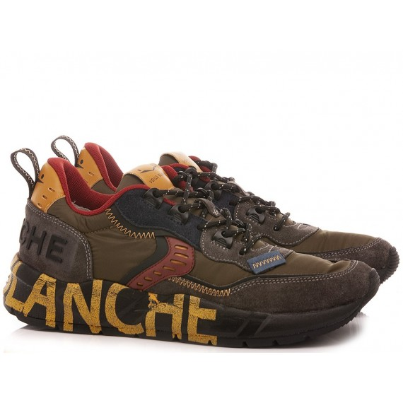 Voile Blanche Men's Sneakers Club01 Army Green