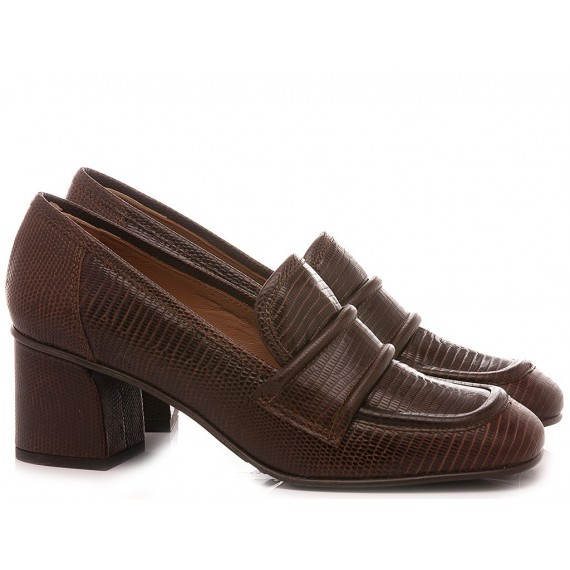 Mivida Women's Shoes Loafers Leather Brown 4202