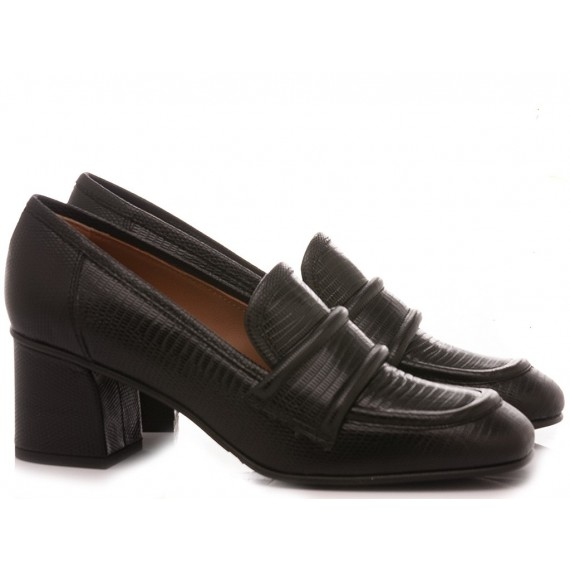 Mivida Women's Shoes Loafers Leather Black 4202