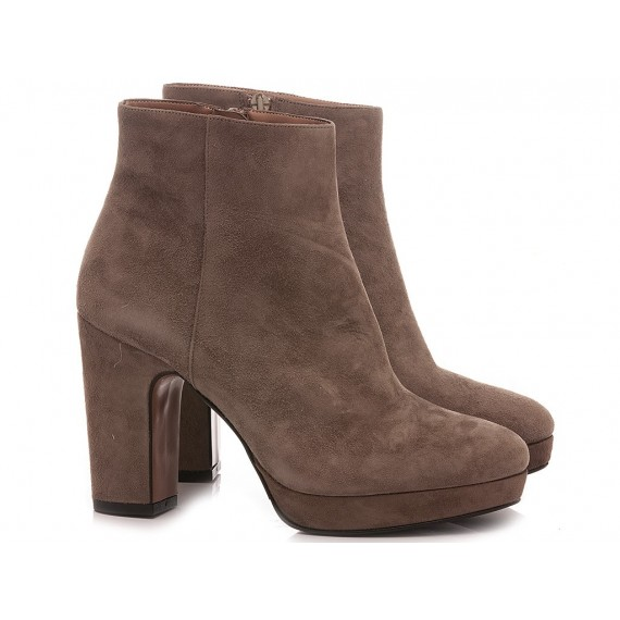 Albano Women's Ankle Boots Suede Taupe 1000