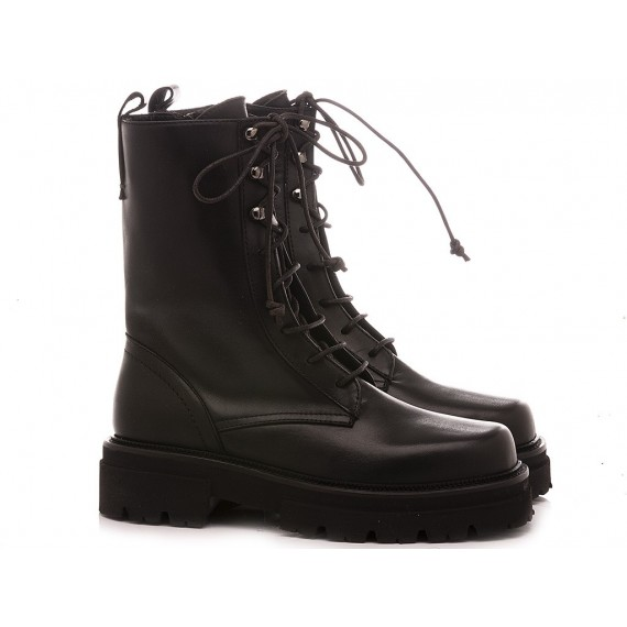 MAT:20 Women's Ankle Boots Leather Black 6401