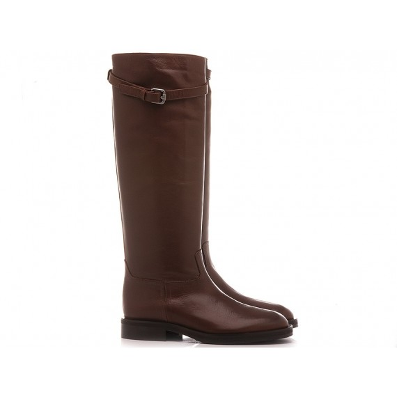 Angelo Bervicato Women's Boots Leather Brown B4258