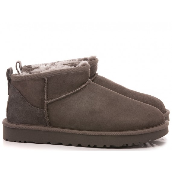 UGG Women's Ankle Boots W Classic Ultra Mini Grey Suede
