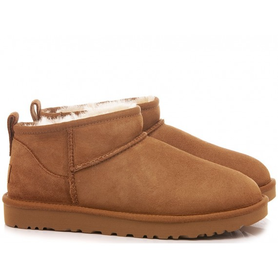 UGG Women's Ankle Boots W Classic Ultra Mini Chestnut Suede