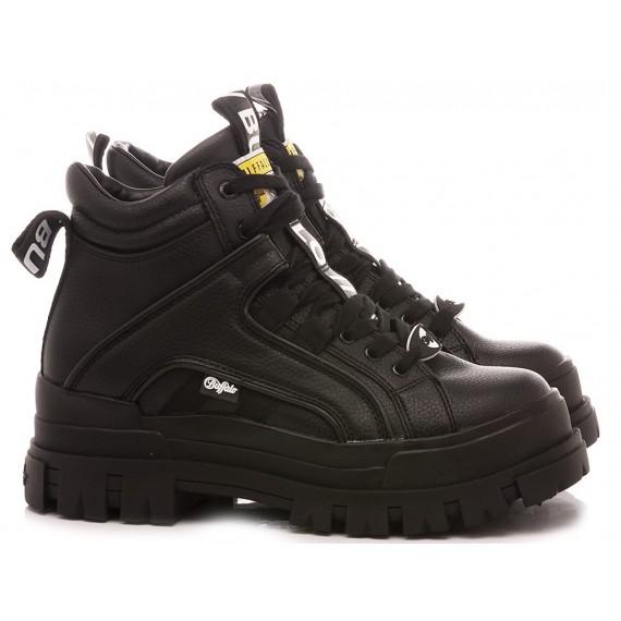 Buffalo London Women's Ankle Boots Aspha NC Mid Black