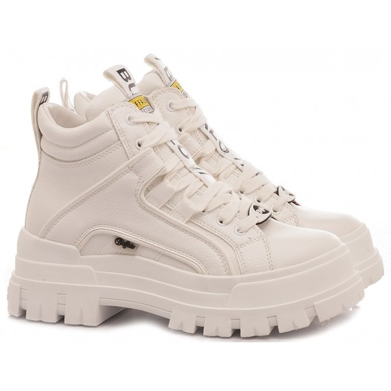 Buffalo London Women's Ankle Boots Aspha NC Mid White