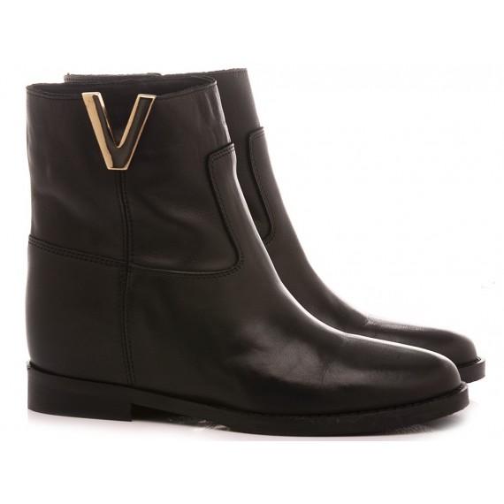 Gaia Shoes Women's Boots Leather Black T23