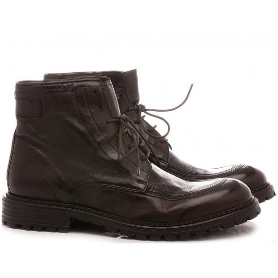 Hundred/100 Men's Ankle Boots Leather Ebony M153-08