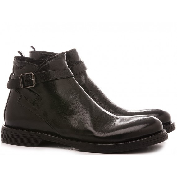 Hundred/100 Men's Ankle Boots Leather Black M153-03