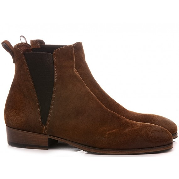 Pawelk's Men's Ankle Boots Brown 19700