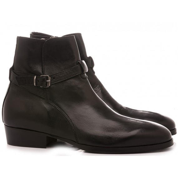 Pawelk's Men's Ankle Boots Black 20712