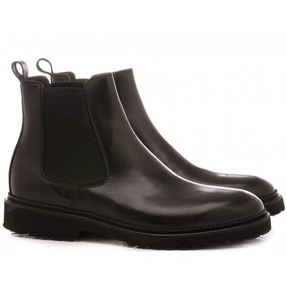Exton Men's Ankle Boots Leather Black 9059