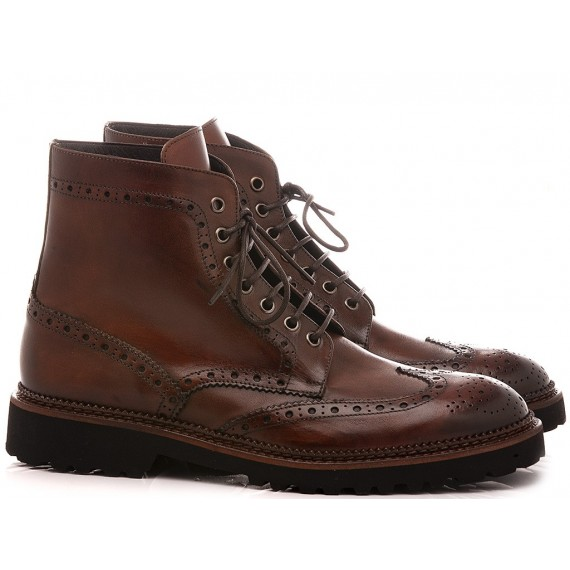 Exton Men's Ankle Boots Leather Brown 9052
