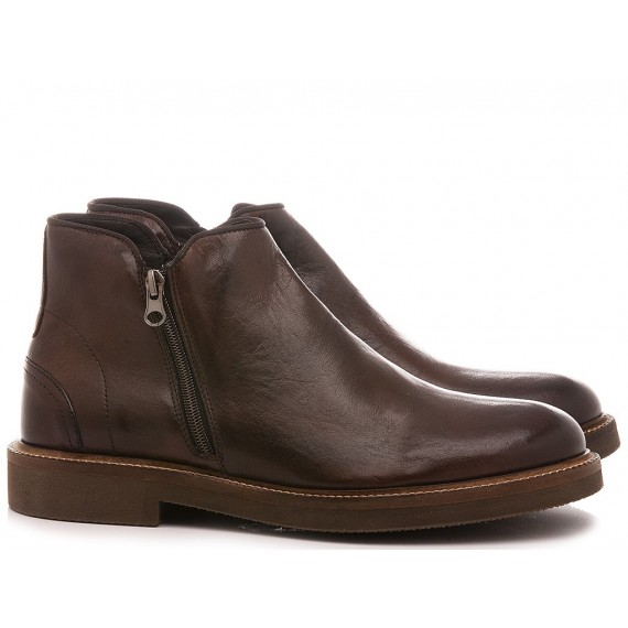 Exton Men's Ankle Boots Leather Ebony 851