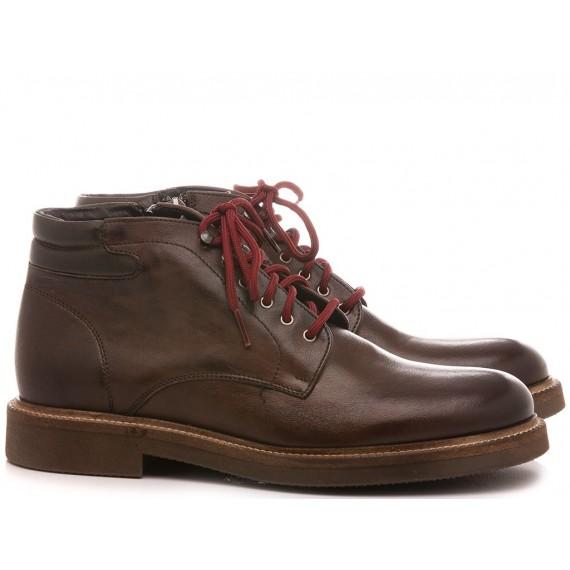 Exton Men's Shoes Ankle Boots Suede Ebony 852
