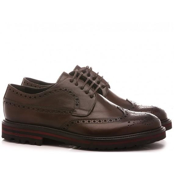 Brecos Men's Shoes Leather Ebony 9758I20