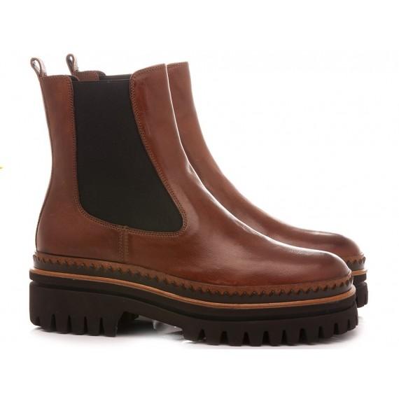 Elvio Zanon Women's Ankle Boots EM0803X Tan