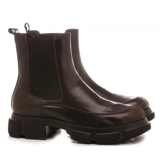 Elvio Zanon Women's Ankle Boots EM0203X Ebony