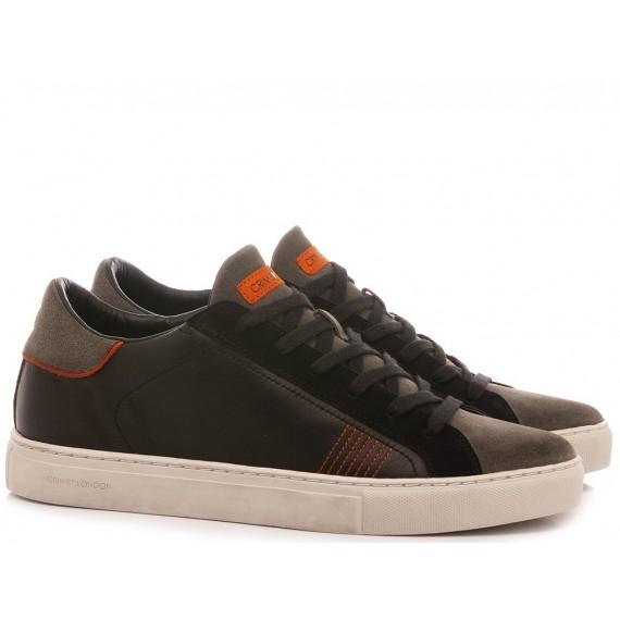 Crime London Men's Sneakers Low Top Essential Black