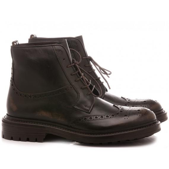 Hundred/100 Men's Ankle Boots Leather Ebony M469-03