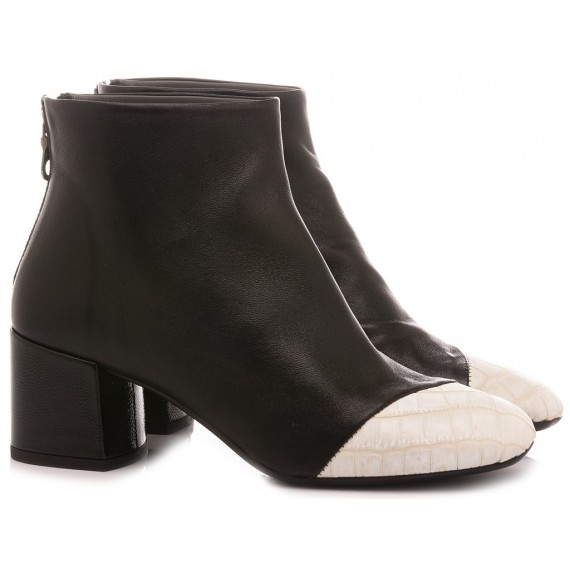Kate Libertine Women's Ankle Boots Leather Black-White