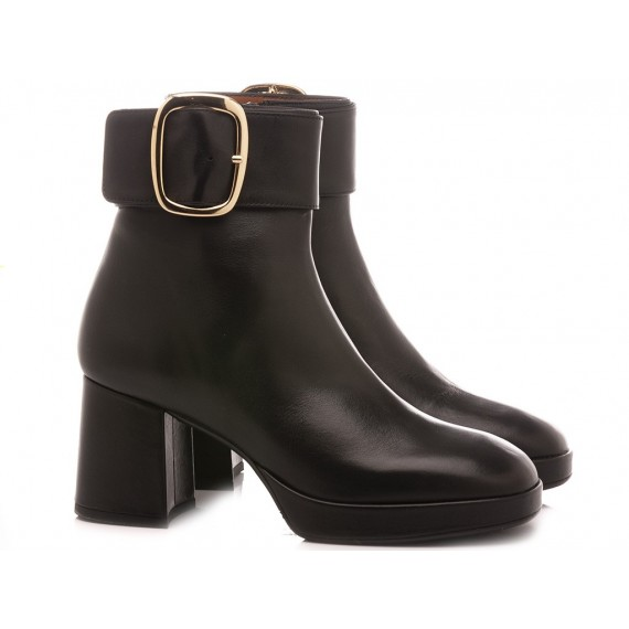 Mivida Women's Ankle Boots Leather Black 5652