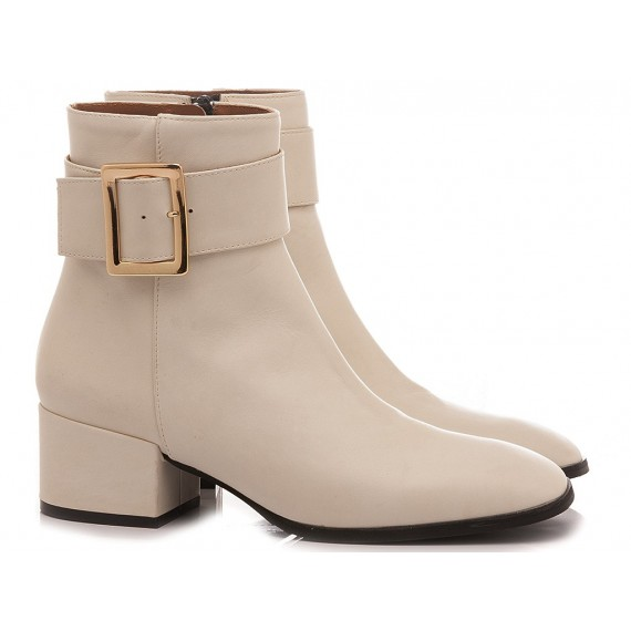 Mivida Women's Ankle Boots Leather Beige 5056