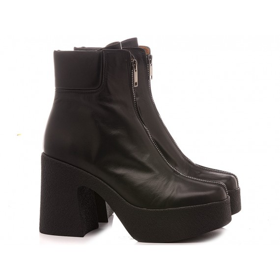 Mivida Women's Ankle Boots Leather Black 4758