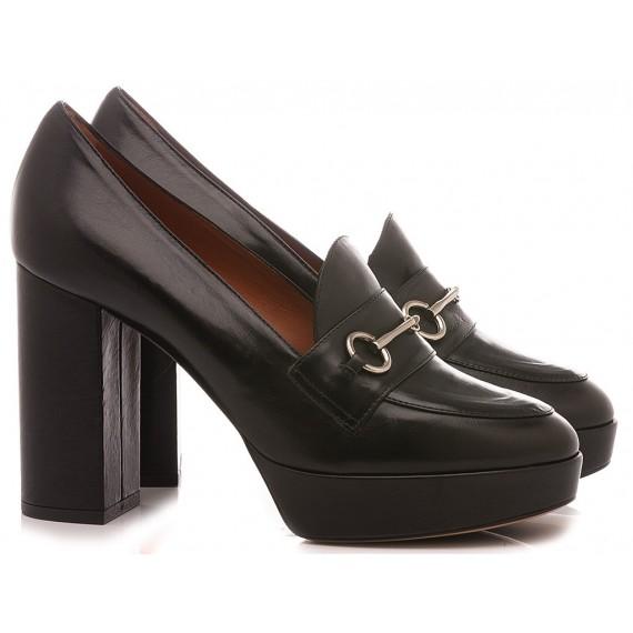 Matteo Pitti Women's Shoes-Loafers Black