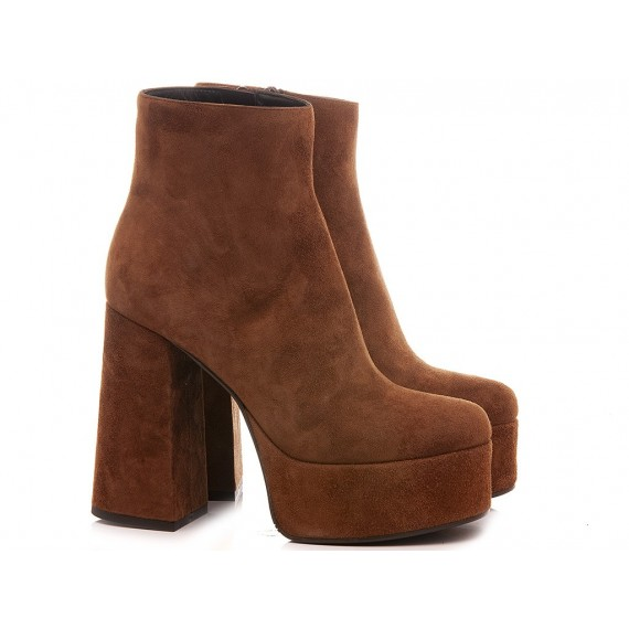Mivida Women's Ankle Boots Suede Rust 7952