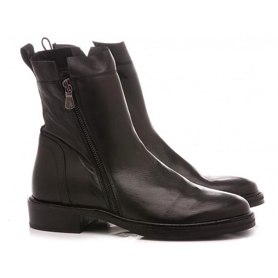 Curiositè Women's Ankle Boots Leather Black 1648