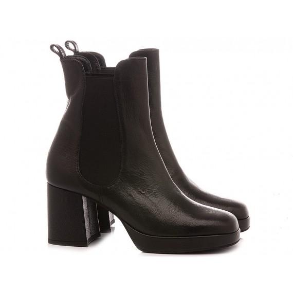 Les Venues Women's Ankle Boots Leather 1852 Black