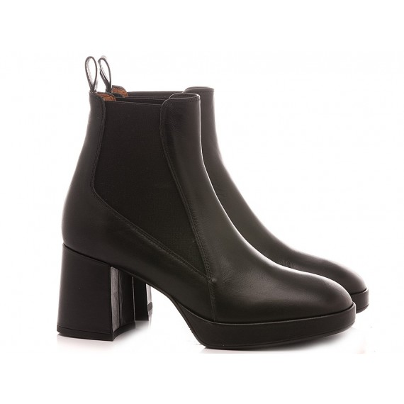 Mivida Women's Ankle Boots Leather Black 4952