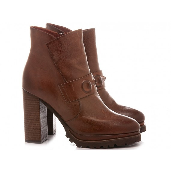Elvio Zanon Women's Ankle Boots EM1404X Tan