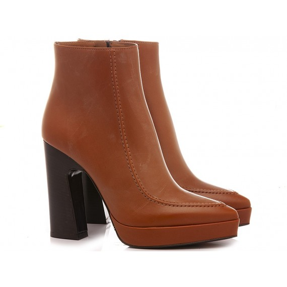 Martina T Women's Ankle Boots Leather Tan B954