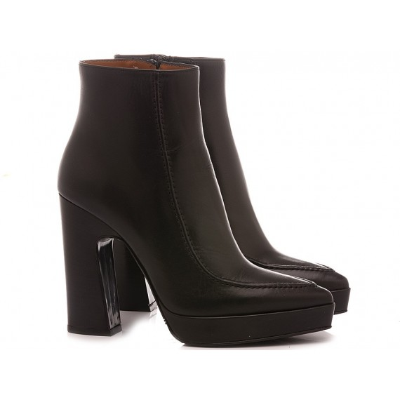 Martina T Women's Ankle Boots Leather Black B954