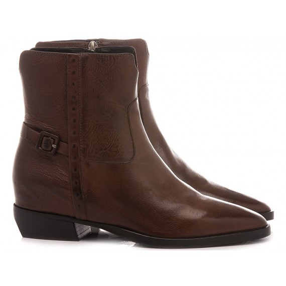 Elvio Zanon Women's Ankle Boots EM3705X Tan