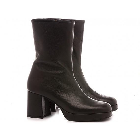 Les Venues Women's Ankle Boots Leather 1851 Black