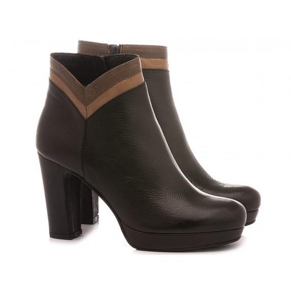 Les Venues Women's Ankle Boots Leather 5674 Black