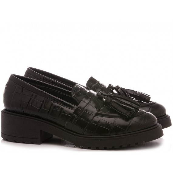 Kammi Women's Shoes Loafers K200 Leather Black
