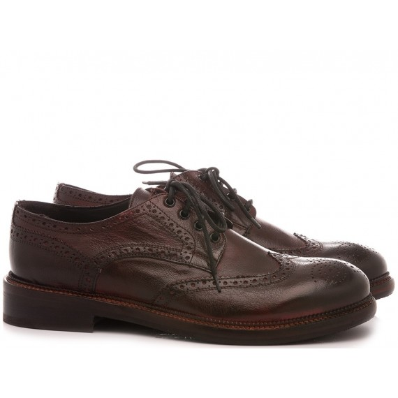 JP David Men's Shoes Leather Brown 37340/2